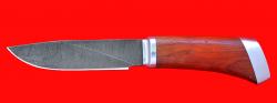 """Охотничий нож """"Универсальный штучный"""", клинок дамасская сталь, рукоять падук"""