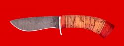 """Охотничий нож """"Фазан"""", клинок дамасская сталь, рукоять береста"""