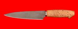"""Нож """"Кухонный средний"""", клинок сталь Х12МФ, рукоять карельская берёза"""