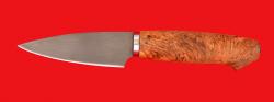 """Нож """"Кухонный малый"""", клинок сталь Х12МФ, рукоять карельская берёза"""