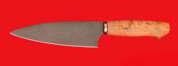 """Нож """"Кухонный большой"""", клинок сталь Х12МФ, рукоять карельская берёза"""