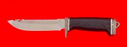 """Нож """"Рыбацкий-3"""", клинок сталь 95Х18, рукоять венге, мельхиор"""
