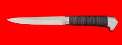 """Нож """"Егерь"""", клинок сталь 65Х13, рукоять кожа, метал"""