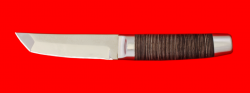 "Нож ""Самурай малый"", клинок сталь 65Х13, рукоять кожа, металл"