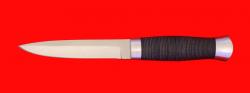 """Нож """"Форель"""", клинок порошковая сталь ELMAX, рукоять кожа, металл"""