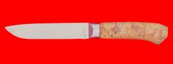 """Нож """"Карачаевский"""" (""""Бычак""""), клинок сталь ELMAX, рукоять стабилизированная карельская береза (цвет натуральный)"""