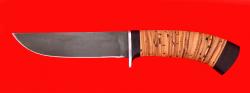 "Охотничий нож ""Олень-2"", клинок сталь Х12МФ, рукоять береста"