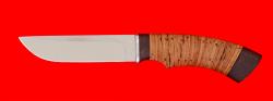 "Охотничий нож ""Грибник"", клинок сталь 95Х18, рукоять береста"