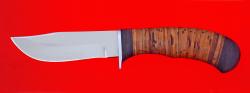 """Охотничий нож """"Филин"""", клинок сталь 65Х13, рукоять береста"""