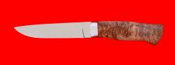 """Охотничий нож """"Леопард"""", клинок порошковая сталь ELMAX, рукоять карельская берёза"""