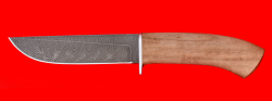 """Охотничий нож """"Олень-2"""", клинок дамасская сталь, рукоять орех"""