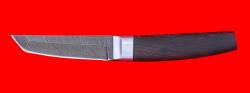 """Нож """"Самурай малый"""", клинок дамасская сталь, рукоять венге"""