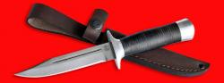 """Нож """"Разведчик"""", клинок сталь D2, рукоять кожа, металл"""