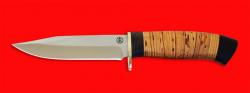 """Нож """"Гюрза"""", клинок порошковая сталь ELMAX, рукоять береста"""