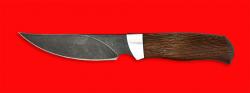 """Нож """"Харза"""", клинок дамасская сталь, рукоять венге"""