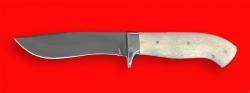 """Охотничий нож """"Вальдшнеп-2"""", цельнометаллический, клинок сталь 95Х18, рукоять лосиный рог"""
