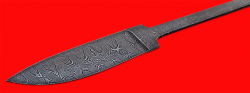 """Клинок для ножа """"Рыбка"""", клинок дамасская сталь"""