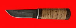 """Охотничий нож """"Северный-2"""", клинок дамасская сталь, рукоять береста"""