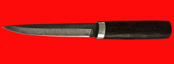 """Охотничий нож """"Эвенк"""", клинок дамасская сталь, рукоять венге"""