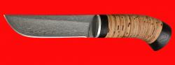 "Охотничий нож ""Олень"", клинок сталь Х12МФ, рукоять береста"