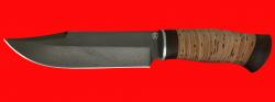"""Нож """"Промысловый большой"""", клинок сталь D2, рукоять береста"""