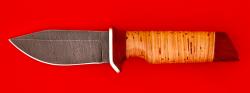 """Нож """"Байкер"""", клинок дамасская сталь, рукоять береста"""