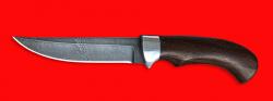 """Нож """"Хищник"""", клинок дамасская сталь, рукоять венге"""