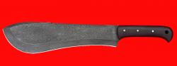 """Нож """"Мачете туристический"""", цельнометаллический, клинок дамасская сталь, рукоять венге"""