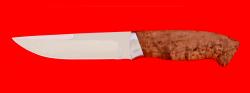 """Охотничий нож """"Марал"""", клинок сталь ELMAX, рукоять карельская берёза"""
