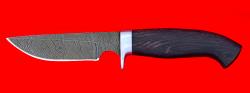 """Охотничий нож """"Медведь"""", клинок дамасская сталь, рукоять венге"""