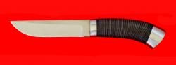 "Нож ""Олень"", клинок сталь 65Х13, рукоять кожа, металл"