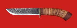 """Охотничий нож """"Олень-2"""" ручная ковка, клинок сталь 9ХС, рукоять береста"""