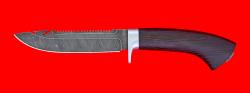 """Нож """"Рыбацкий-2"""", клинок дамасская сталь, рукоять венге, усиленная гарда"""