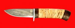 "Нож ""Сурок"", клинок тигельный булат, рукоять береста"