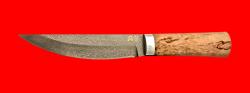 "Нож ""Таймыр"", клинок тигельный булат, рукоять карельская берёза"