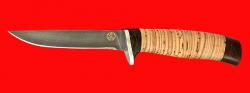 """Нож """"Тунец"""", клинок булатная нержавеющая сталь (нержавеющий булат), рукоять береста"""