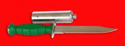 """Нож разведчика НР-43 """"Вишня"""", разборный, клинок сталь У8, рукоять пластмасса + крепление для древка"""