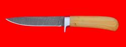 """Нож """"Засапожный №2"""", клинок дамасская сталь, рукоять самшит"""