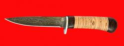 """Нож """"Засапожный-2"""", клинок тигельный булат, рукоять береста"""